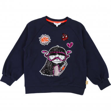 Patterned sequined sweatshirt LITTLE MARC JACOBS for GIRL