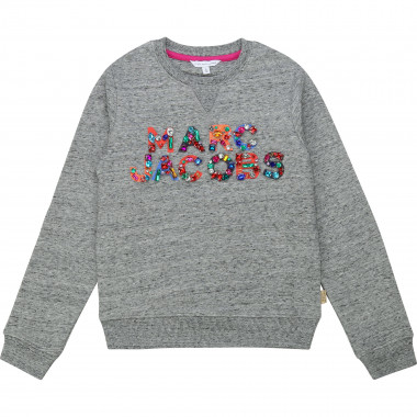Cotton sweatshirt with beads LITTLE MARC JACOBS for GIRL
