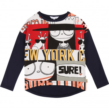 Asymmetric printed T-shirt LITTLE MARC JACOBS for GIRL