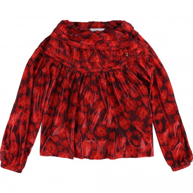Voile pleated-collar blouse LITTLE MARC JACOBS for GIRL