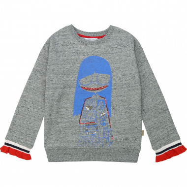 Cotton sweatshirt with ruffles LITTLE MARC JACOBS for GIRL