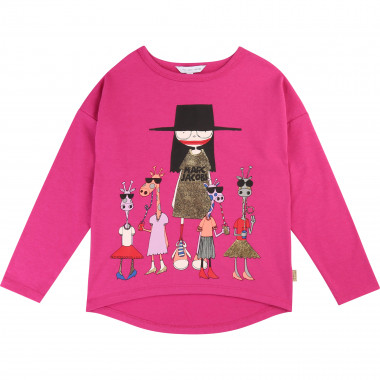 Asymmetric T-shirt with print LITTLE MARC JACOBS for GIRL
