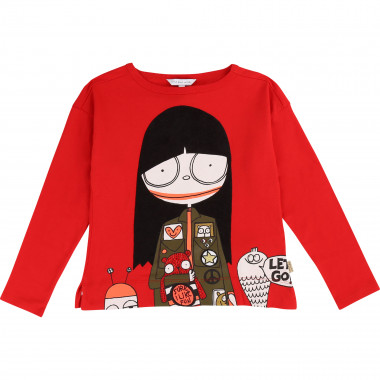 Cotton modal printed T-shirt LITTLE MARC JACOBS for GIRL