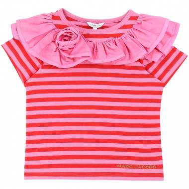 Striped T-shirt with frills THE MARC JACOBS for GIRL