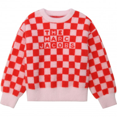 Checkerboard jacquard knit jumper THE MARC JACOBS for GIRL