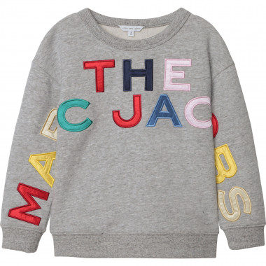 Fleece sweatshirt with patches THE MARC JACOBS for GIRL