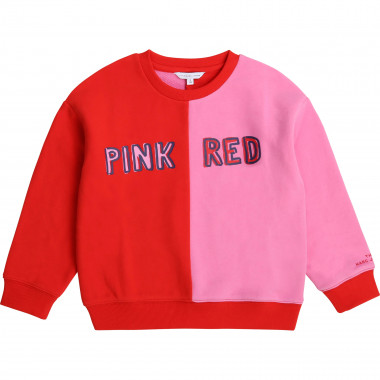 Fleece colour-block sweatshirt THE MARC JACOBS for GIRL