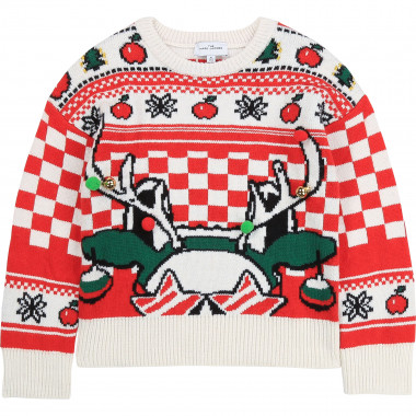 Jacquard jumper with christmas motif THE MARC JACOBS for GIRL