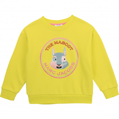 Cotton fleece sweatshirt THE MARC JACOBS for GIRL