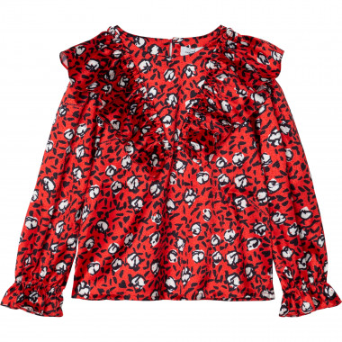 Printed satin blouse THE MARC JACOBS for GIRL