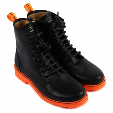 Notched-sole leather boots LITTLE MARC JACOBS for GIRL