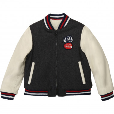Reversible wool bomber LITTLE MARC JACOBS for BOY