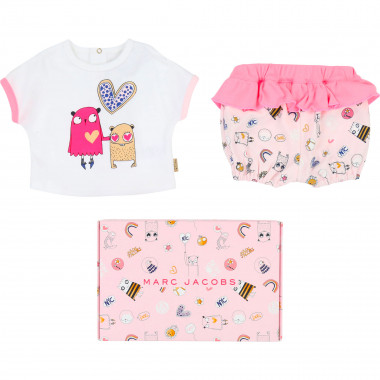 Interlock T-shirt and bloomers LITTLE MARC JACOBS for GIRL