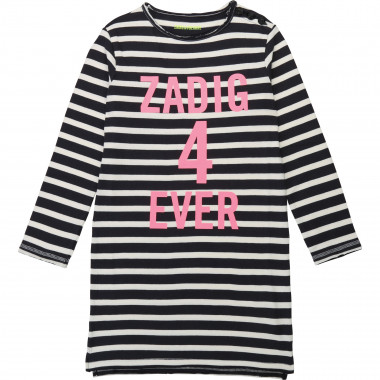 Two-tone striped cotton dress ZADIG & VOLTAIRE for GIRL