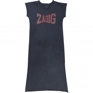Long split-side cotton dress ZADIG & VOLTAIRE for GIRL