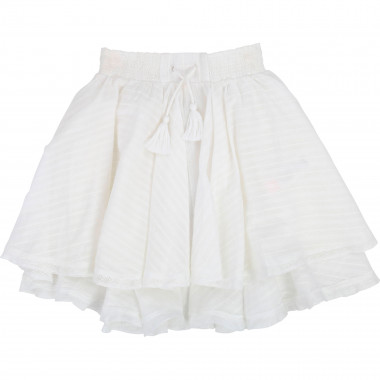 Striped skirt with lace trim ZADIG & VOLTAIRE for GIRL
