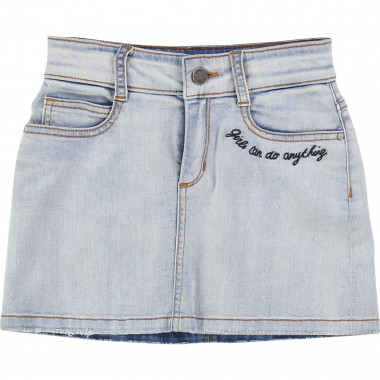 Embroidered denim skirt ZADIG & VOLTAIRE for GIRL