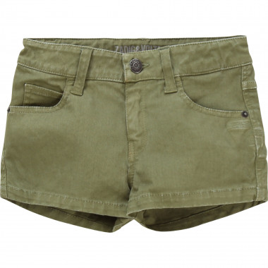 Embroidered cotton shorts ZADIG & VOLTAIRE for GIRL