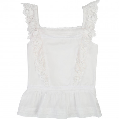 Frill detail cotton camisole ZADIG & VOLTAIRE for GIRL