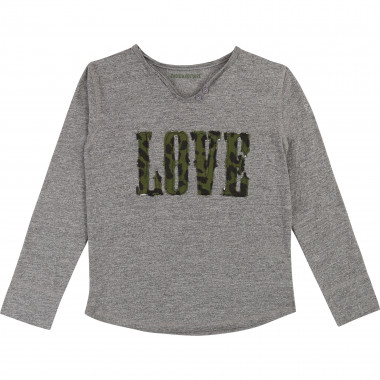 Marled cotton jersey T-shirt ZADIG & VOLTAIRE for GIRL
