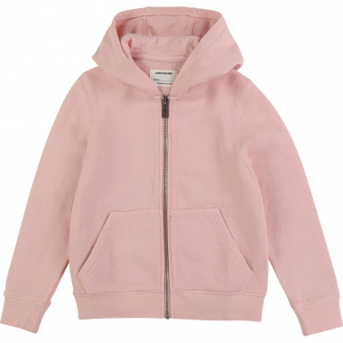 Zipped hooded cardigan ZADIG & VOLTAIRE for GIRL
