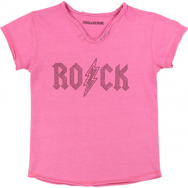 Cotton T-shirt with studs ZADIG & VOLTAIRE for GIRL