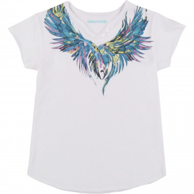 Henley-collar cotton T-shirt ZADIG & VOLTAIRE for GIRL