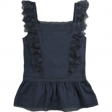 Cotton voile camisole ZADIG & VOLTAIRE for GIRL