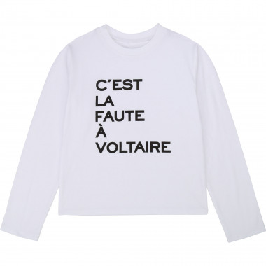 Printed cotton T-shirt ZADIG & VOLTAIRE for GIRL