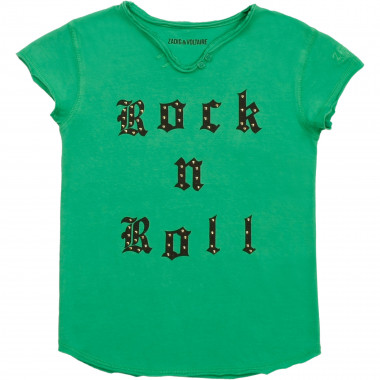 Printed embroidered T-shirt ZADIG & VOLTAIRE for GIRL