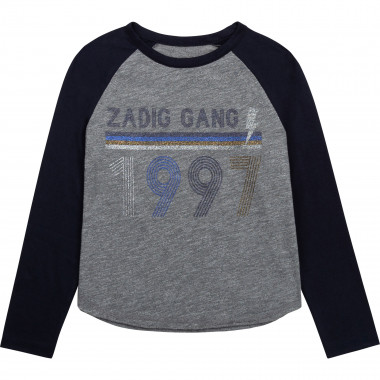 Two-tone jersey T-shirt ZADIG & VOLTAIRE for GIRL