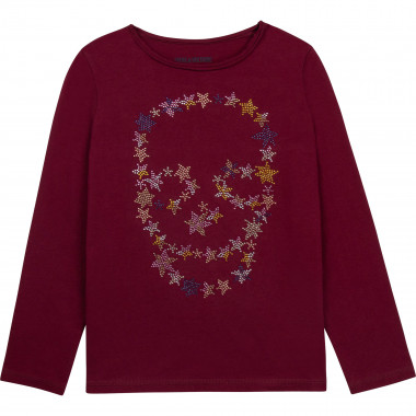T-shirt with rhinestones ZADIG & VOLTAIRE for GIRL