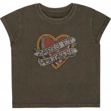 Thick jersey T-shirt with rhinestones ZADIG & VOLTAIRE for GIRL