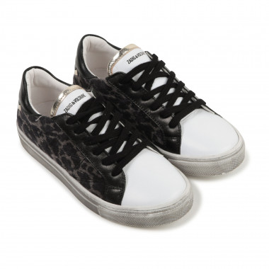 Leopard print leather sneakers ZADIG & VOLTAIRE for GIRL