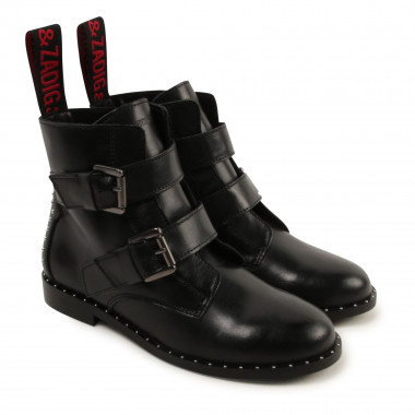 Studded leather ankle boots ZADIG & VOLTAIRE for GIRL