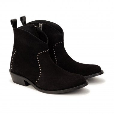 Zipped leather boots ZADIG & VOLTAIRE for GIRL