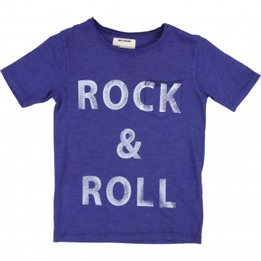 Rock 'n' Roll jersey T-shirt ZADIG & VOLTAIRE for BOY