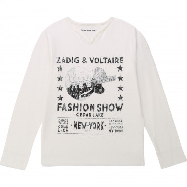 Tunisian-collar cotton T-shirt ZADIG & VOLTAIRE for BOY