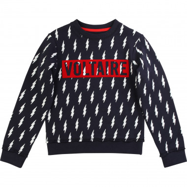 Printed fleece sweatshirt ZADIG & VOLTAIRE for BOY