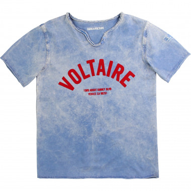 Cotton Henley-neck T-shirt ZADIG & VOLTAIRE for BOY