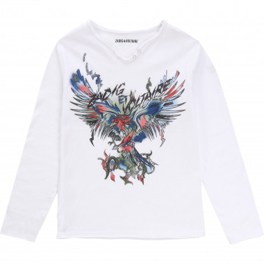 Printed Henley-neck T-shirt ZADIG & VOLTAIRE for BOY