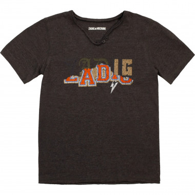 T-shirt with placed print ZADIG & VOLTAIRE for BOY