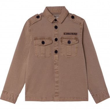 Cotton drill military jacket ZADIG & VOLTAIRE for BOY
