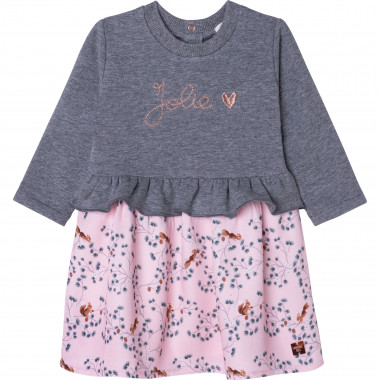2-in-1 organic cotton dress CARREMENT BEAU for GIRL