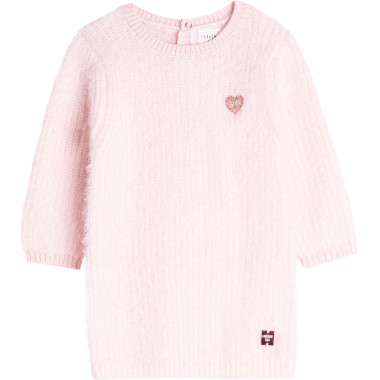Fluffy tricot dress CARREMENT BEAU for GIRL