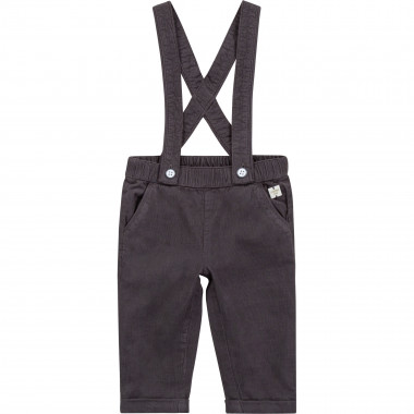 Corduroy trousers with braces CARREMENT BEAU for BOY