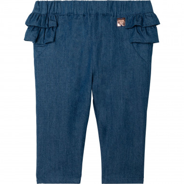 Straight-cut ruffled jeans CARREMENT BEAU for GIRL