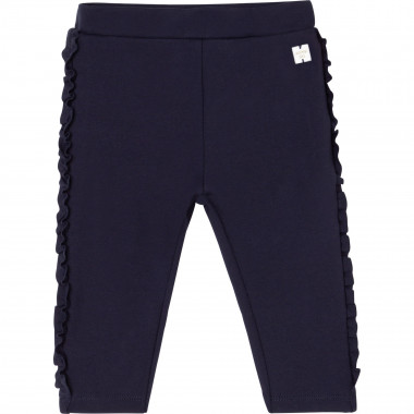 Ruffled milano knit trousers CARREMENT BEAU for GIRL