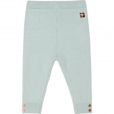 Cotton and wool knit leggings CARREMENT BEAU for GIRL