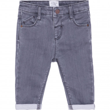 Embroidered-pocket stretch jeans CARREMENT BEAU for BOY